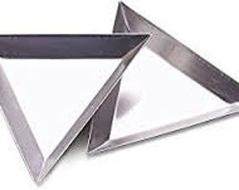 Set of 6 Metal Sorting Trays - Triangle - Bead Scoop Aluminum Sort Tray  - Sold set of 6