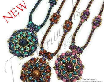 KR035 TUTORIAL - Mademoiselle Necklace - Color Kit - Instructions Included, Beadweaving Pattern Instructions