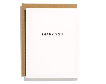 Futura Thank You - Letterpress Thank You Card - CT198