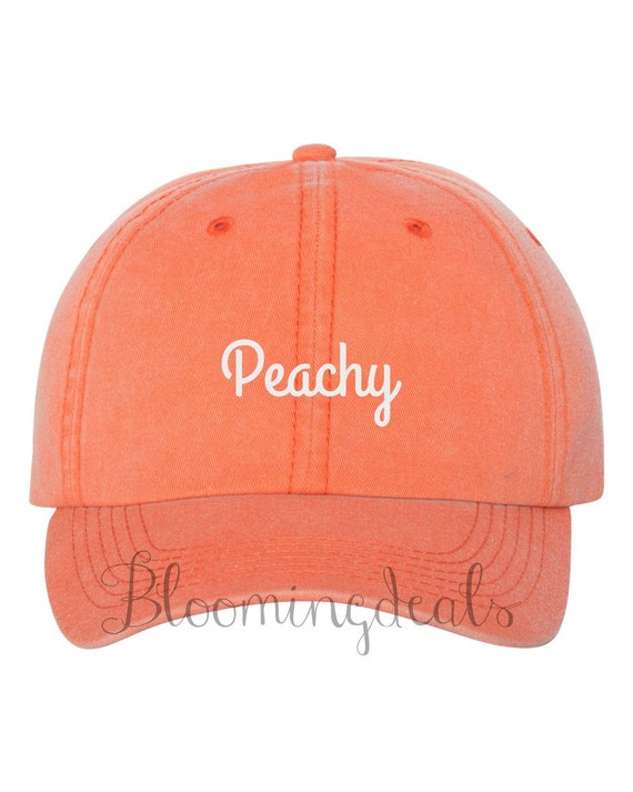 custom order baseball caps neon coral hat embroidered