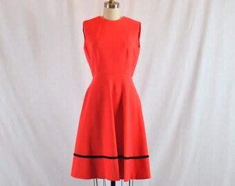 "Vintage 1960s Dress | 60s Dress Party Dress | 1960s Swing Dress 26"" Waist Small"