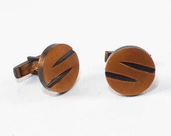 NOS Kim COPPER Cuff Links // Copper Cuff Links // Modern Cuff Links // Danish Modern Cuff Links // Unique Cuff Links // 1960s Cuff Links