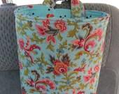 Trash Bin, Car Trash Bag, Cute Car Accessories, Headrest Bag, Trash Container, Flower Swirls