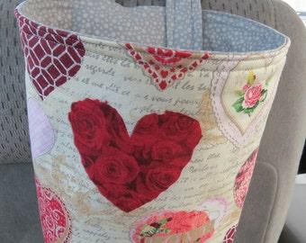 Trash Bin, Car Trash Bag, Cute Car Accessories, Headrest Bag, Trash Container, Hearts on Cream