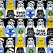 Lucasfilm licensed fabric Star Wars Fabric  50 cm by 106  cm or 19.6 by 42 inches nc25