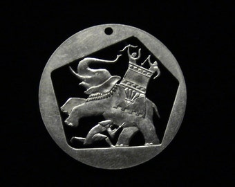 BRAND NEW - ISRAEL - cut coin jewelry - Maccabees Defending Against Greek Soldiers