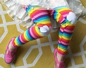 Rainbow Leggings. Rainbow Tights. Knee Patch Leggings. Rainbow Striped Leggings. Girls Leggings. Toddler Leggings. Cool gifts for kids.