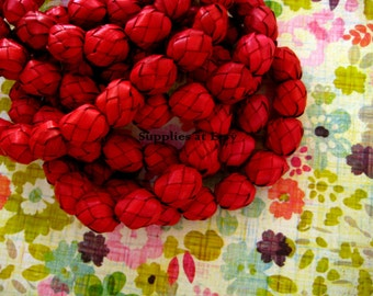 Sale Organic Eco Friendly knots Beads 10mm-Ethnic Beads-Yoga Beads-Rustic handmade braided beads-Mexican Folk-Prayer,mala beads