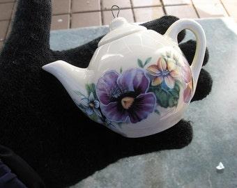Teapot Ornament, Ceramic