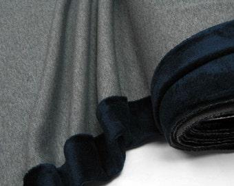 Happy Fleece uni gray dark blue 0.54yd (0.5m)003004