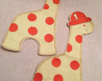 Applique, Baby Dinosaur Applique, Fabric Sewing, Embroidery, Bag Embellishment, Home & Living, Accessories, Craft Supply, Kid Dinosaur