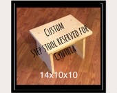 Reserved for Cynthia, Whimsical Painted Step stool, Personalized Step Stool Custom Childs Stool Chair
