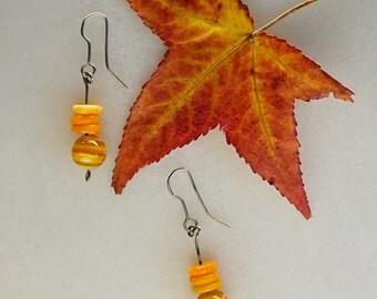Flowered and Fun Orange earrings
