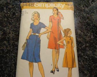 Vintage Simplicity 9448 misses' dress pattern