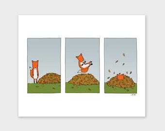 Fox in the Fall Print