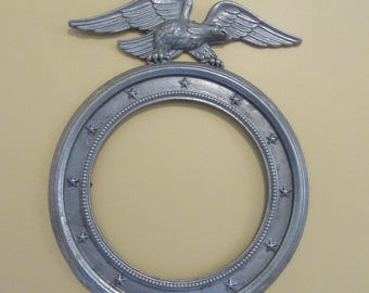 Nice round federal style eagle topped metal frame