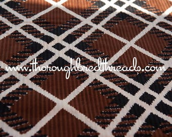 Black and Brown Plaid - Textured Vintage Fabric