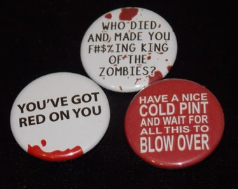 Shaun of the Dead Pin Set of 3