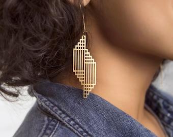 Geometric Glitz Earrings | ATL-E-208
