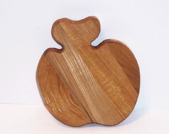 Mini Apple Cutting Board Handcrafted from Mixed Hardwoods