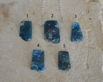 Natural Blue Apatite Necklace