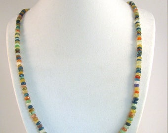Mixed Gemstone Necklace 25 inches RKS546 RKMixablesSilver Collection