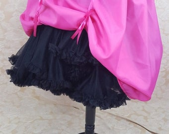 "SALE Hot Pink Knee Length Bustle Skirt-One Size Fits Up To A 52"" Waist"