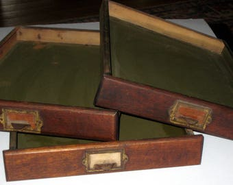 One Vintage File, Supply Drawer or Cabinet Drawer for Repurposing - Great Tray for Plants