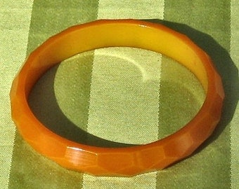 Bakelite Butterscotch Bangle Bracelet SALE 30% 0ff