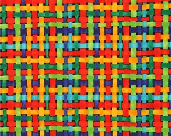 206134 colorful fun weave pattern design fabric Luminosity Brite Blank Quilting USA
