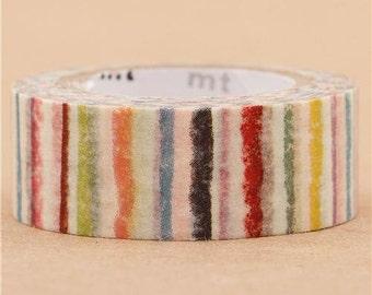 190312 colorful stripes mt Washi Masking Tape deco tape mt for kids