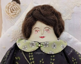 Ellen - A Folk Art Rag Doll