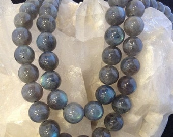 50% Mega Sale 10mm Blue Flash Labradorite Round Gemstone Beads