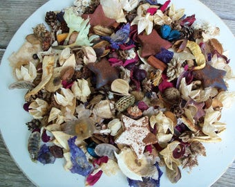 Americana Country Potpourri with Grubbied Stars,Scented,Rustic,Saltdough,Red, White, Blue,Patriotic,4th of July,Refresher Oil Included
