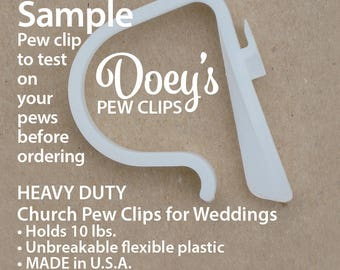 Doey's Wedding Pew Clips secure Wedding Ceremony Pew Decorations to Church Pews, Chairs & Tables HEAVY DUTY Flower, Bow, Mason Jar Hanger
