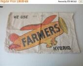 SPRING SALE VINTAGE collectible 'farmers hybrid Seed corn' Bag sack