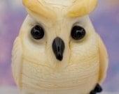 Elvis lampwork owl bead