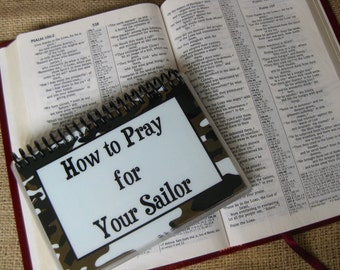 How to Pray for Your Sailor, Spiral-Bound, Laminated Prayer Cards