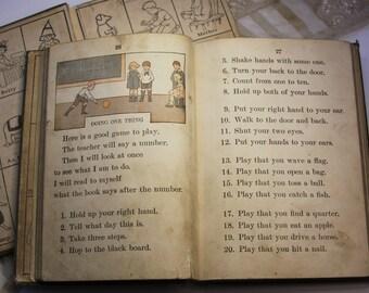 Vintage SCHOOL PRIMER (2) Bolenius First Reader & Primer- 1923 Copyright- Vintage Illustrations- Boys Girls Reading Books