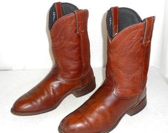 Mens Size 10 D Cowboy Boots Durango Brown Indie Folk Urban Rustic Western Wear