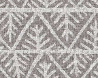 Mudcloth Fabric - Textured Mudcloth In Gray By Willowlanetextiles - African Mudcloth Cotton Fabric By The Yard With Spoonflower