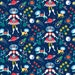 Outer Space Fabric - Far Away Folk By Cerigwen - Space Galaxy Folk Art Cotton Fabric By The Yard With Spoonflower