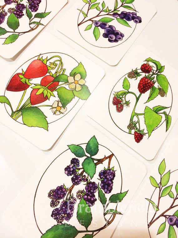 One Berry, Two Berry Postcards Set of 8 SALE!