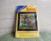 Needlepoint Kit Spinnerin Zodiac Miniatures Capricorn the Goat Stitchery Kit Vintage 70s