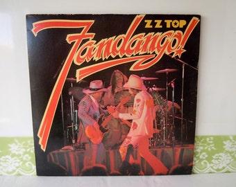 Vintage 1975 ZZ Top Fandango Vinyl Record Album London Records Warner Brothers BSK 3271