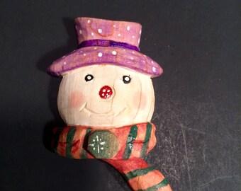 Snowman Christmas pin