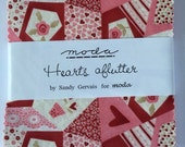 SALE. Hearts aflutter by Sandy Gervais for Moda