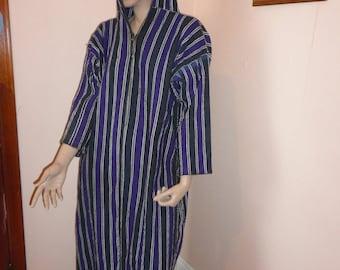 1960's Handmade Bedouin Hooded Robe Sz 18