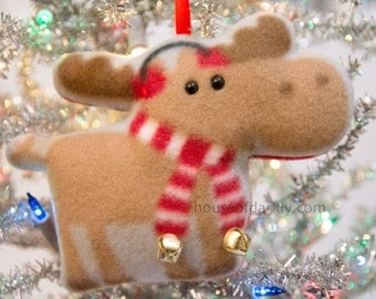 Merry Moose ornament Supernatural inspired with scarf or sweater