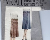 1928 McCall 5570 skirt pattern Size 32